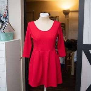 ⚡️ Awesome Little Red Skater Dress with Pockets!